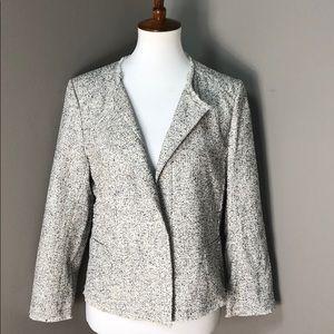 Ann Taylor LOFT Lightweight Tweed Blazer Size 10